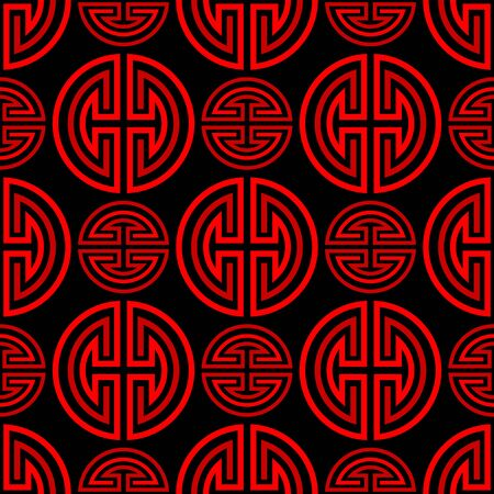 Oriental traditional red chinese seamless vector pattern 向量圖像