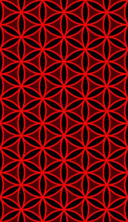Seamless flower of life pattern of sacred geometry