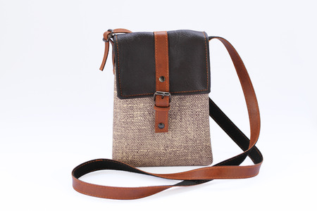 Handmade leather pocket bag photo