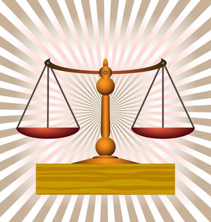 illustration technique: balance scales