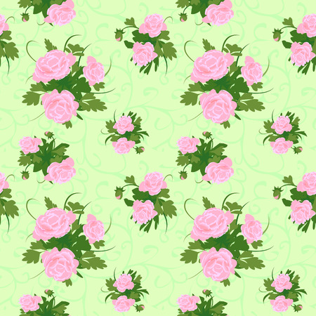 peony background seamless Vector