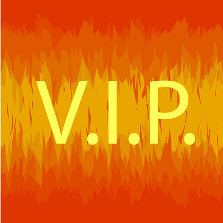 VIP sign in fire seamless Stock Vector - 7124641