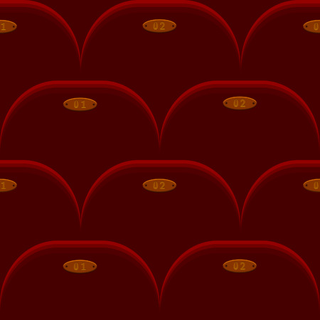 cinema chair seamless background Vector
