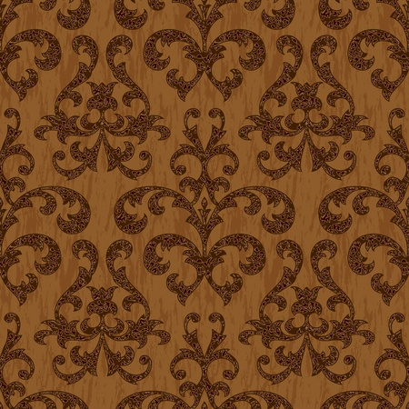 old style textile floral seamless background pattern Vector