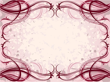 vector red abstract floral grunge pattern background Stock Vector - 9716223