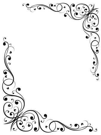 twirls: vector abstract floral grunge pattern