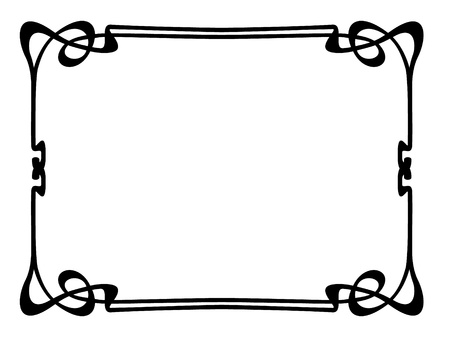 simple border: Vector art nouveau modern ornamental decorative frame