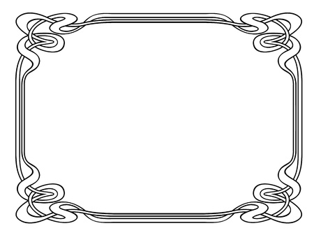 simple: Vector art nouveau modern ornamental decorative frame
