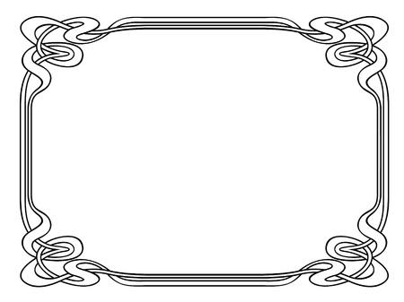 engrave: Vector art nouveau modern ornamental decorative frame