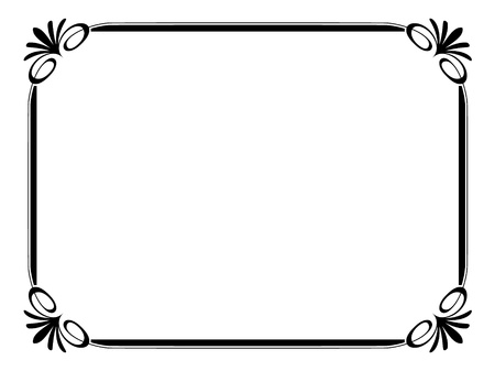 refined: Vector simple ornamental decorative frame Illustration