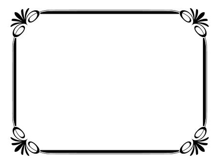 Vector simple ornamental decorative frame