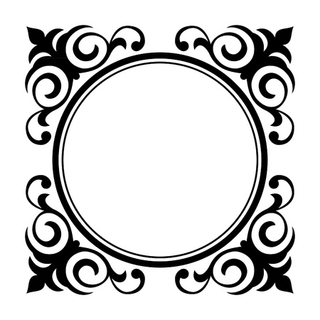 simple border: Vector circle ornamental decorative frame  Illustration