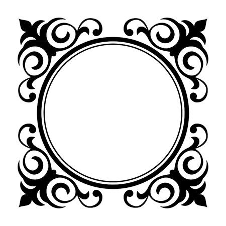 engrave: Vector circle ornamental decorative frame  Illustration
