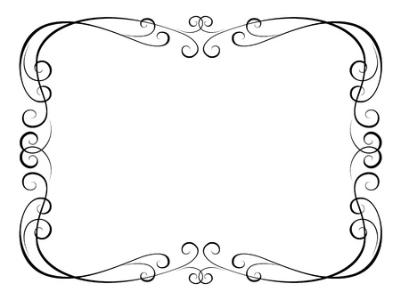Vector calligraphy penmanship ornamental frame Vector