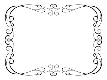 penmanship: Vector calligraphy penmanship ornamental frame