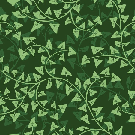 abstract ivy seamless repeat pattern background Vector