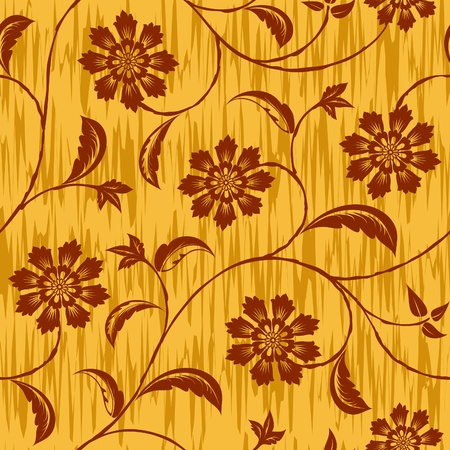 abstract flowers seamless repeat pattern background Vector