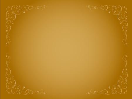 simple gold ornamental decorative  frame pattern Stock Vector - 9832528