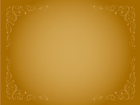 simple gold ornamental decorative  frame pattern Stock Vector - 9832528