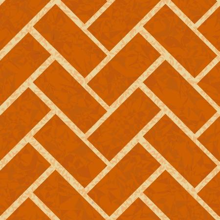 floor: brickwork floor, wall seamless background pattern Illustration