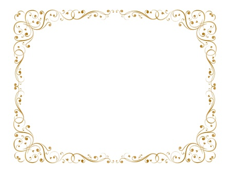 cartouche: abstract floral grunge frame pattern background