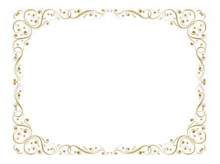 baroque border: abstract floral grunge frame pattern background