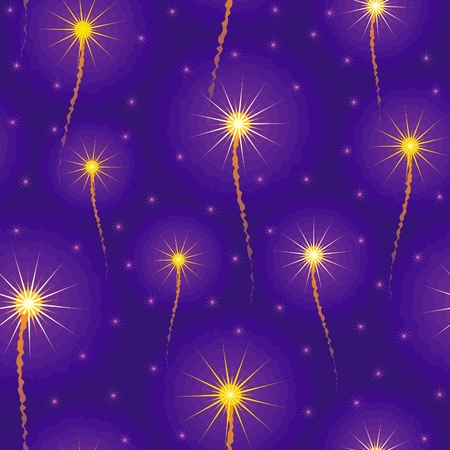 salute, fireworks in the sky seamless background Vector