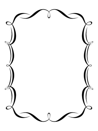calligraphy penmanship ornamental deco frame pattern Vector