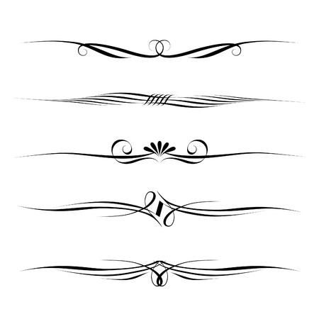 règle: ensemble d'�l�ments d�coratifs, des fronti�res et la page des r�gles frame Illustration