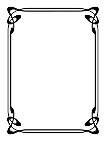 art nouveau modern ornamental decorative frame Stock Vector - 10081894