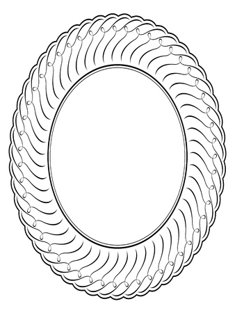 oval ornamental decorative frame pattern background Stock Vector - 10081899