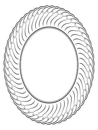 floral pattern motif: oval ornamental decorative frame pattern background Illustration