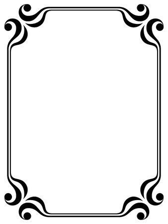 simple: simple calligraph ornamental decorative frame pattern