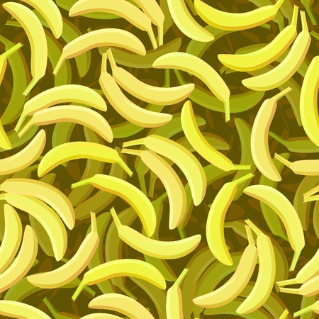 vector seamless yellow banana background repeat pattern Vector