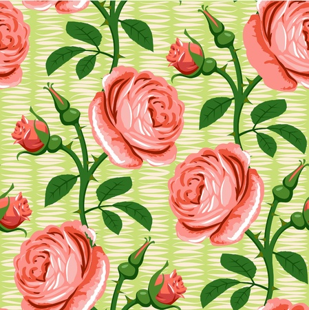 seamless romantic rose pink background design pattern Vector