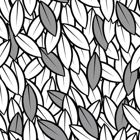 astratto seamless Vector lascia sfondo bianco e nero
