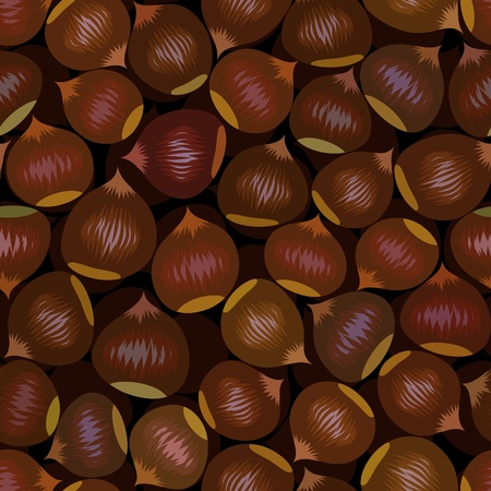 vector seamless brown chestnut snack background pattern Vector