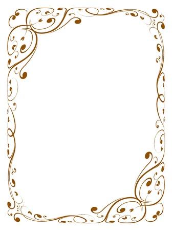 Vector calligraphy penmanship ornamental deco frame pattern Stock Vector - 10496501