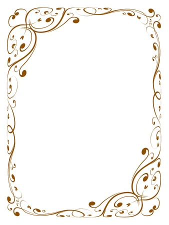 borderframe: Vector calligraphy penmanship ornamental deco frame pattern Illustration