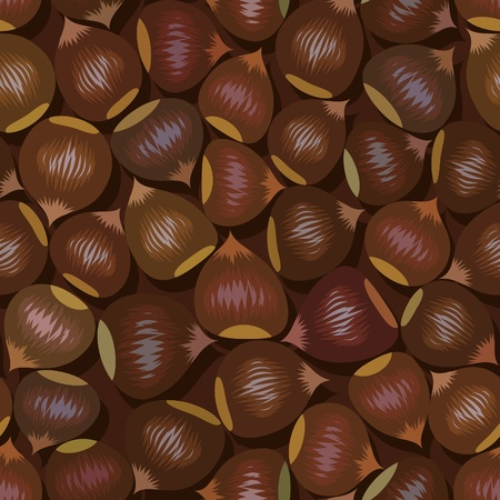 disorderly: disorderly numerous ripe brown hazelnuts seamless background