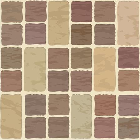 Seamless texture de tuile Stonewall différentes couleurs
