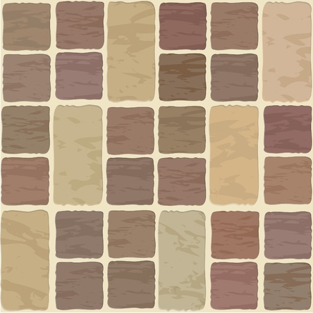 Seamless texture of different colors stonewall tile Vector