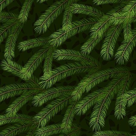 fir cone: Navidad abeto rama patr�n de fondo sin fisuras