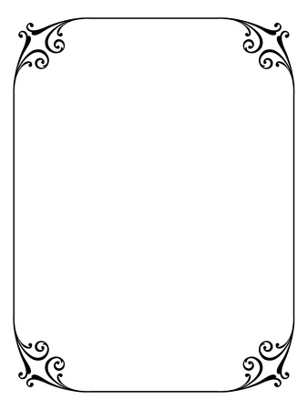 simple calligraphy ornamental decorative frame pattern Stock Vector - 10896331