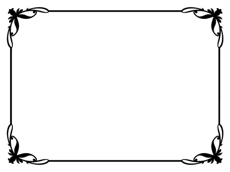 simple border: simple calligraphy ornamental decorative frame pattern