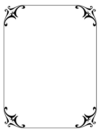 borderframe: simple calligraphy ornamental decorative frame pattern