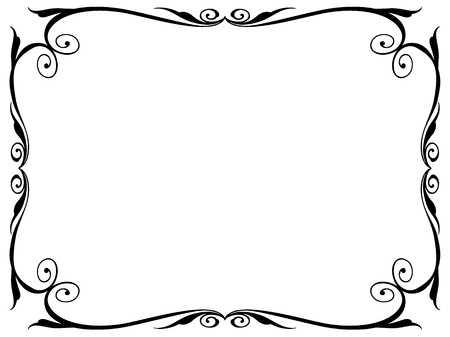 bookplate: simple calligraphy ornamental decorative frame pattern