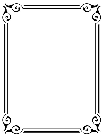 simple calligraphy ornamental decorative frame pattern Stock Vector - 10896344