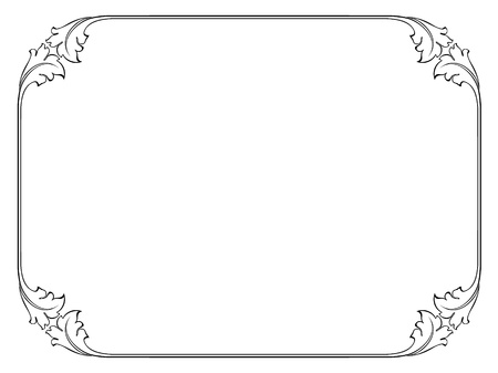 calligraph: simple calligraphy ornamental decorative frame pattern