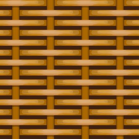 gewebt Korbweide Zaun nahtlose Hintergrund